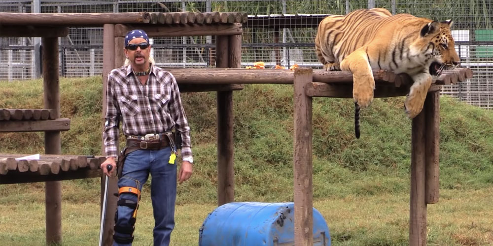 Joe Exotic nella serie Netflix tiger king