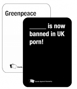 Greenpeace is now banned in UK porn!