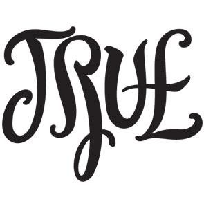 True/False Ambigram by John Langdon | An Optical Illusion