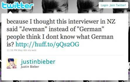 Anorak News Justin Bieber On The Jewman And The Gaps