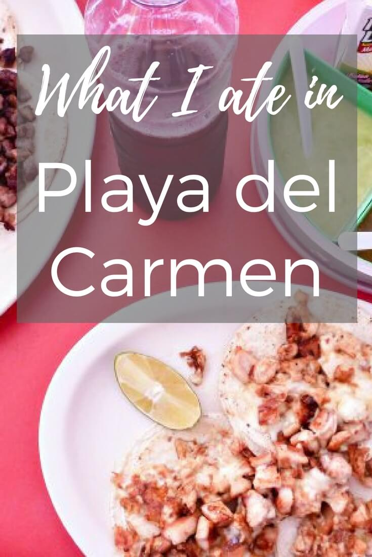 Street food, fresh mango juice, tacos, tacos, and more tacos! Check out what I ate during my time in Playa del Carmen, Mexico.
