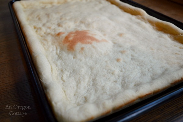 Baked Quick Homemade Pizza Dough