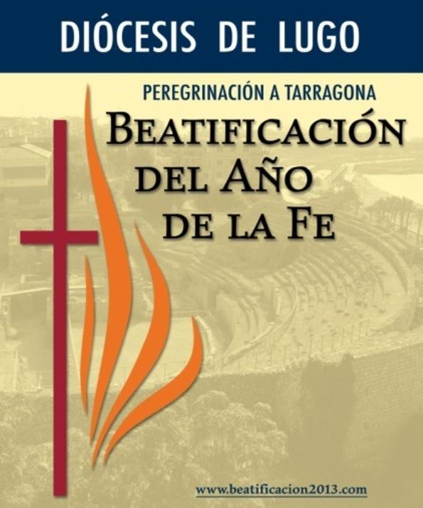 Cartel peregrinación a Tarragona detalle
