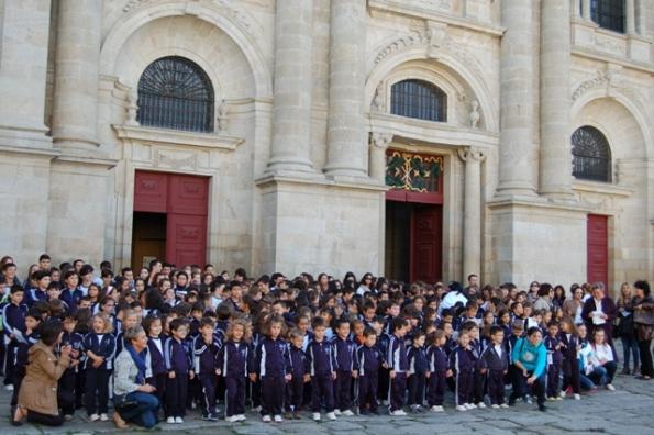 Peregrinación Lugo colexio de Sarria
