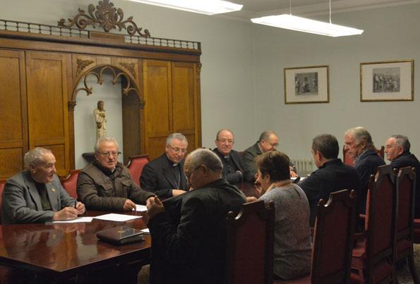 Reunión Bispo - Xunta Confrarías Semana Santa Lugo