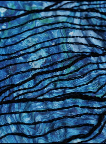 embroidered waves