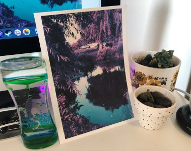purple photo print
