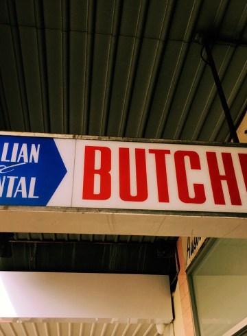 australian continental butcher vintage sign