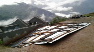 Roof after wind