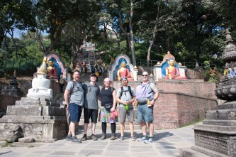 ABIN Team at Swayambhunath