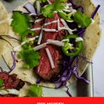 close up of a carne asada steak taco