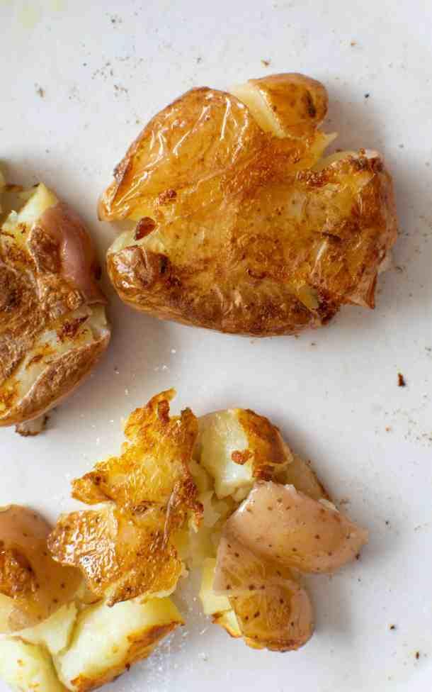 Fried Smashed Potatoes