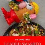 loaded smashed potatoes