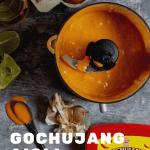 gochujang aioli in a blender