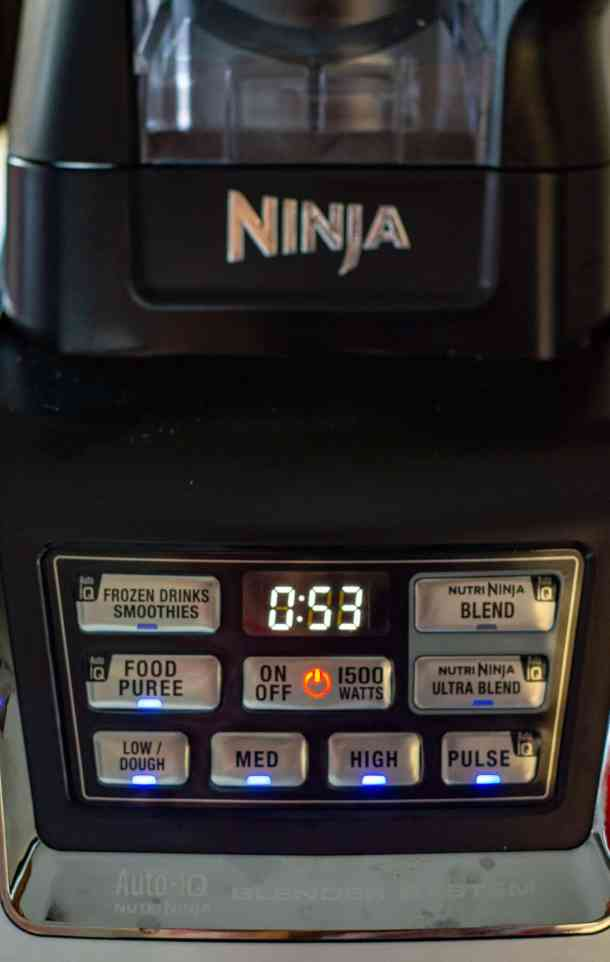 ninja kitchen blender timer