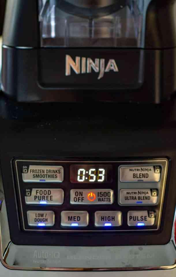 ninja kitchen blender timer