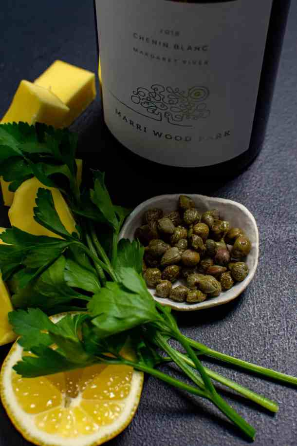Marri Wood Park chenin blanc, butter, parsley & capers