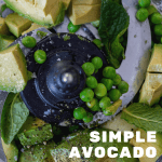 avocado, mint, salt, pepper & peas in a ninja blender