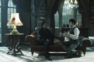 DARK SHADOWS Director Tim Burton and Johnny Depp
