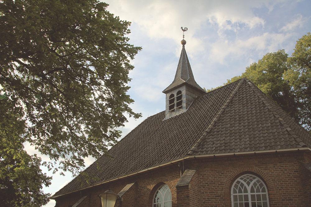 Reformed church in the center of Bronkhorst