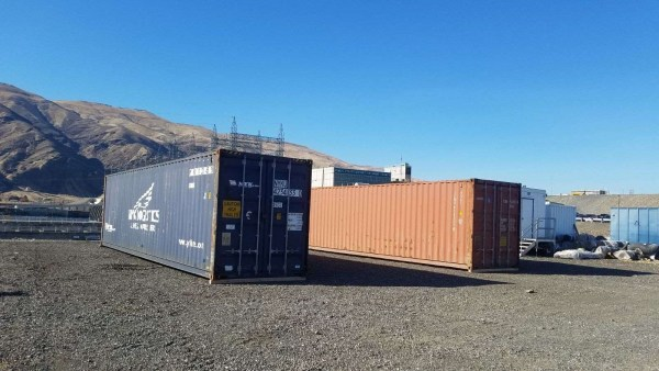 40 foot container used blue red