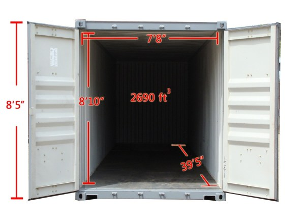 40HC high cube container inside dimensions 1