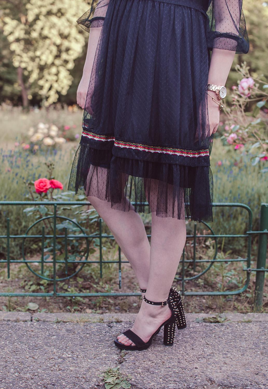 vip me black mesh dress