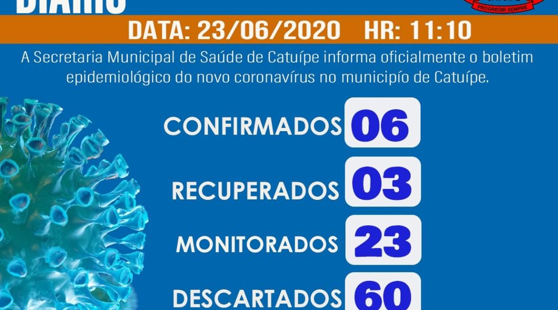 Boletim Epidemiológico – CATUÍPE – 23/06/2020