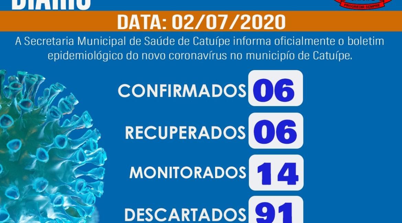 Boletim epidemiológico – CATUÍPE – 02/07/2020