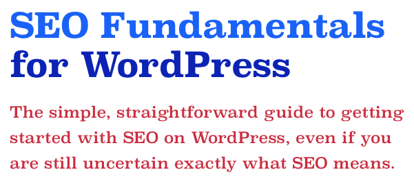 SEO Fundamentals for WordPress