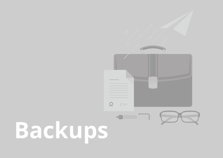 sample website report - backups