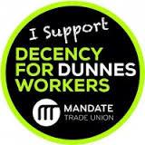 Dunnes Stores strike 2015 Mandate logo