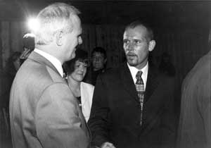 DUP's Willie McCrea MP and Billy Wright