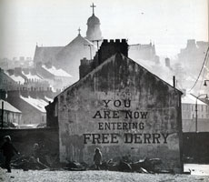 "Image result for The ""no-go"" areas, known as Free Derry"