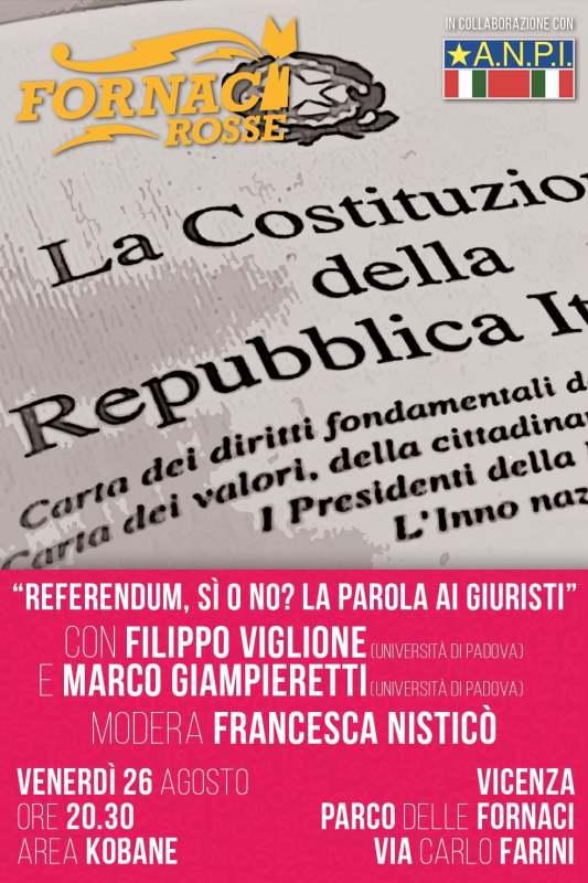 Confronto tra le posizioni del sì e del no al prossimo referendum costituzionale