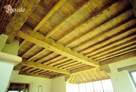 Balkenplafond, antiek eiken plafond