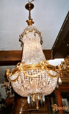 Franse 'Sac a perle' Louis XVI 19e eeuws