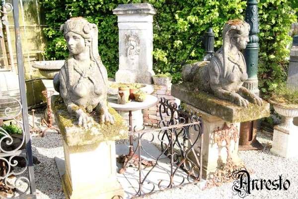 Ref. 03 - Antieke tuinbeelden, oude tuinbeelden – 2 stuks