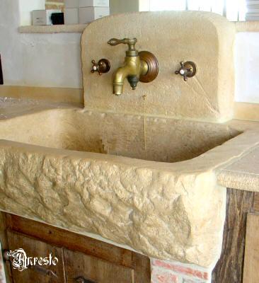 Ref. 12 – Spoelbak in Bourgondische steen - Anresto keuken ontwerp