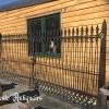 Ref. 21 – Antieke smeedijzeren 2-vleugelige poort, gesmede ijzeren tuinpoort foto 2