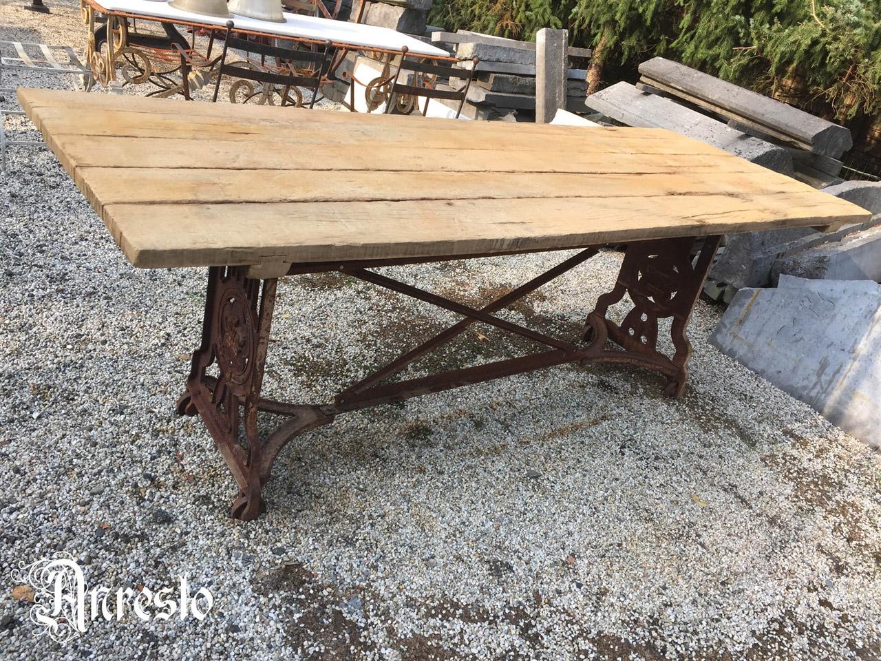 Gietijzeren Onderstel Tafel : Bistro tafel met gietijzeren onderstel en marmeren blad catawiki