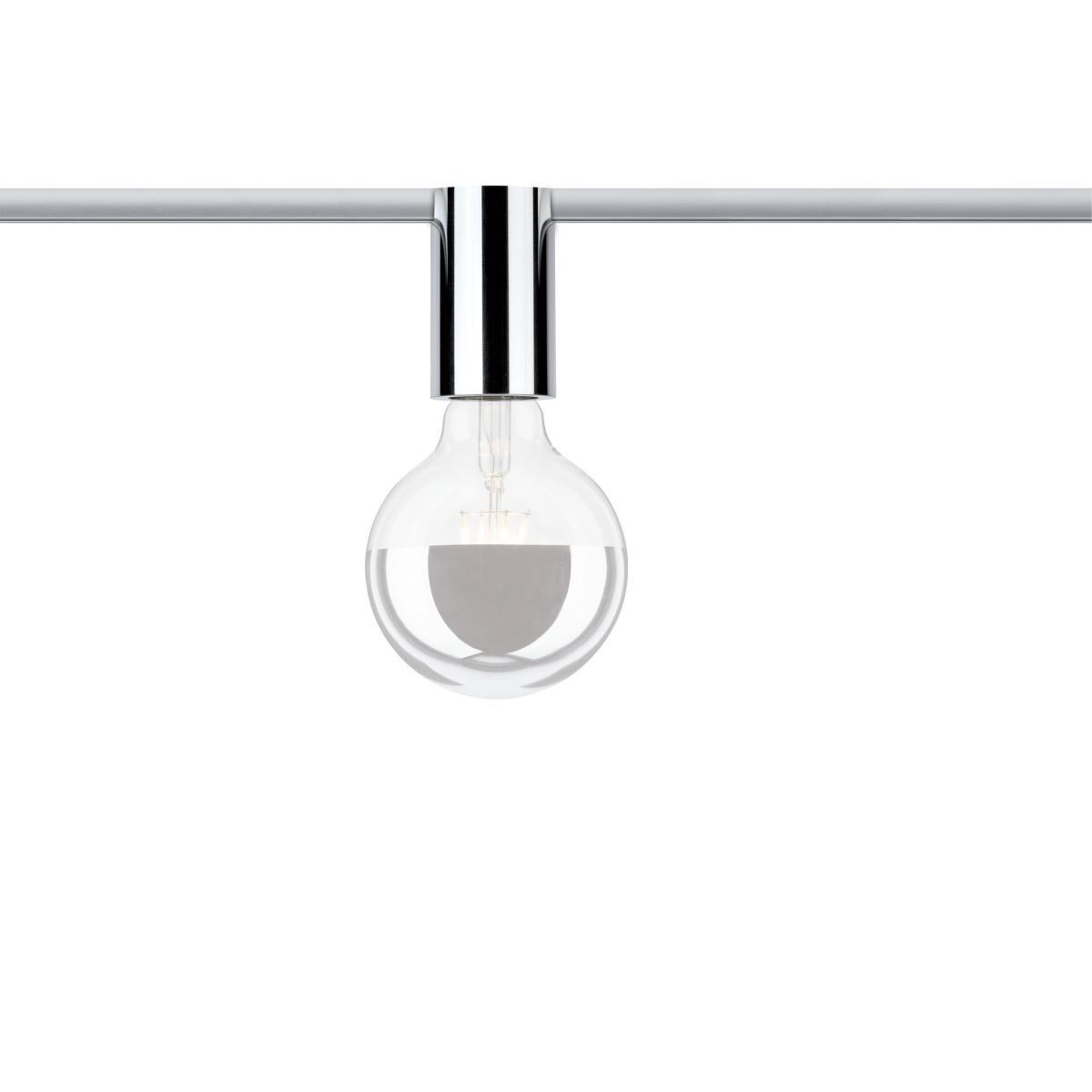 Urail Spot Sur Rail Ceiling Socket Sans Ampoule Chrome