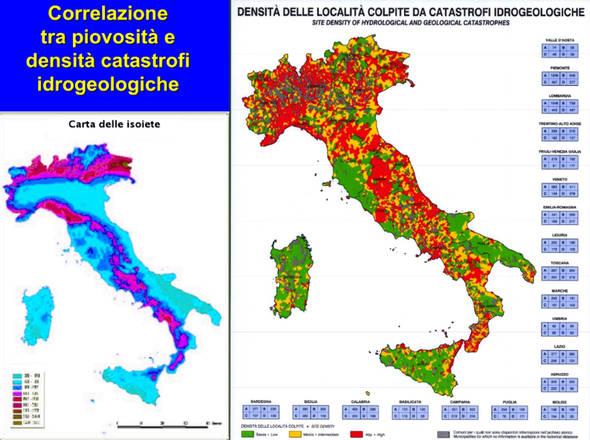 Enea - Ispra: mappa sulle conseguenze sul dissesto idreologico