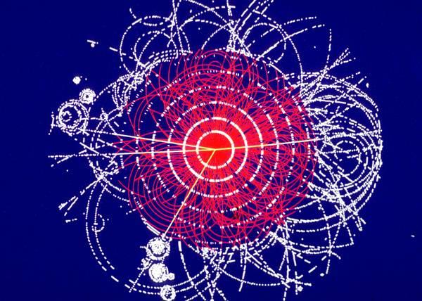 Simulazione di eventi prodotti dal decadimento del bosone di Higgs nell'esperimento Atlas (fonte: CERN)