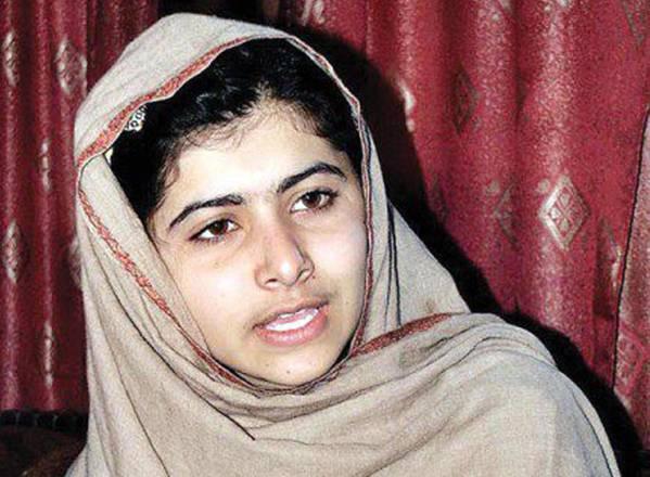Un primo piano di Malala Yousafzai