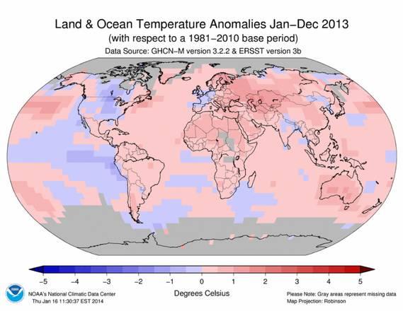 Noaa, 2013 quarto anno più caldo dal 1880 (Foto:Noaa)
