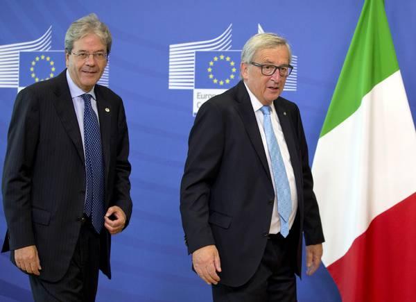 Gentiloni a Bruxelles, al via bilaterale con Juncker