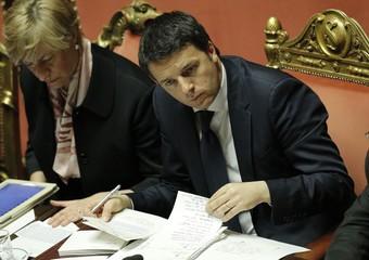 Matteo Renzi al Senato