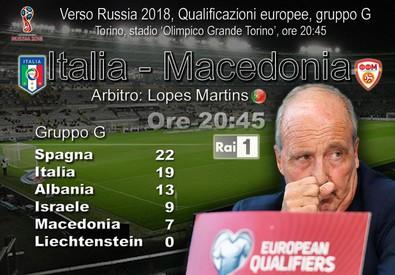 A Torino, ore 20:45: Italia-Macedonia (elaborazione) (ANSA)