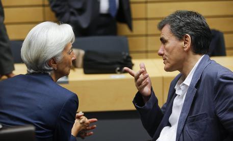 Christine Lagarde e Euclid Tsakalotos © EPA